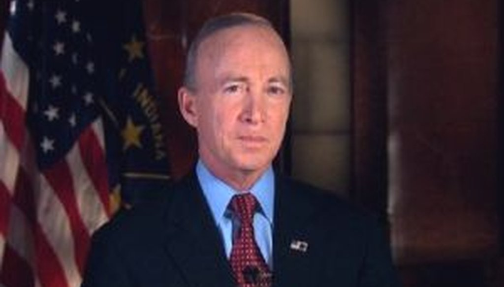 Indiana Gov. Mitch Daniels gave the Republican response to President Barack Obama's 2012 State of the Union address.