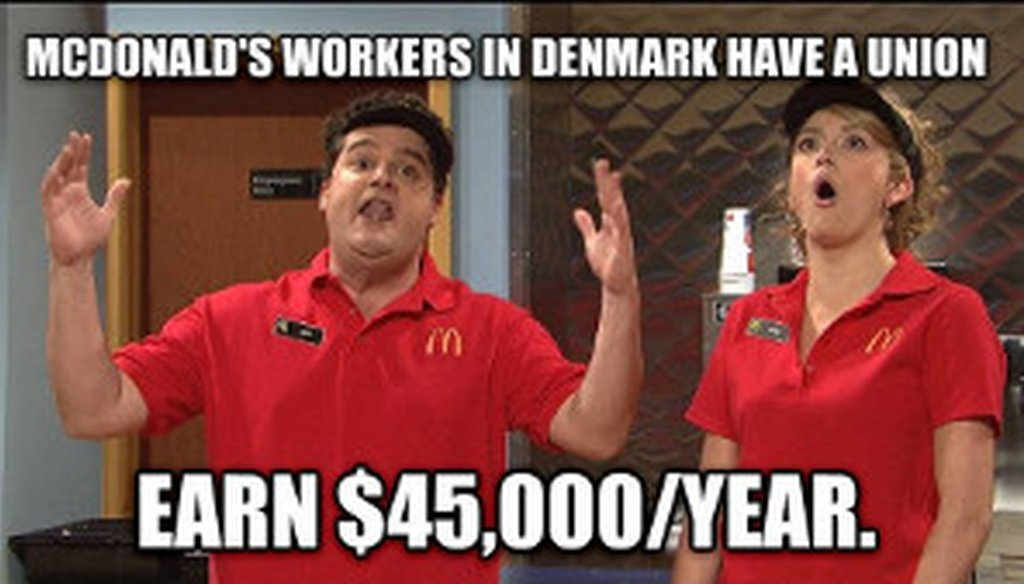 The advocacy group The Other 98% posted this image as part of its campaign to raise wages for fast food workers.