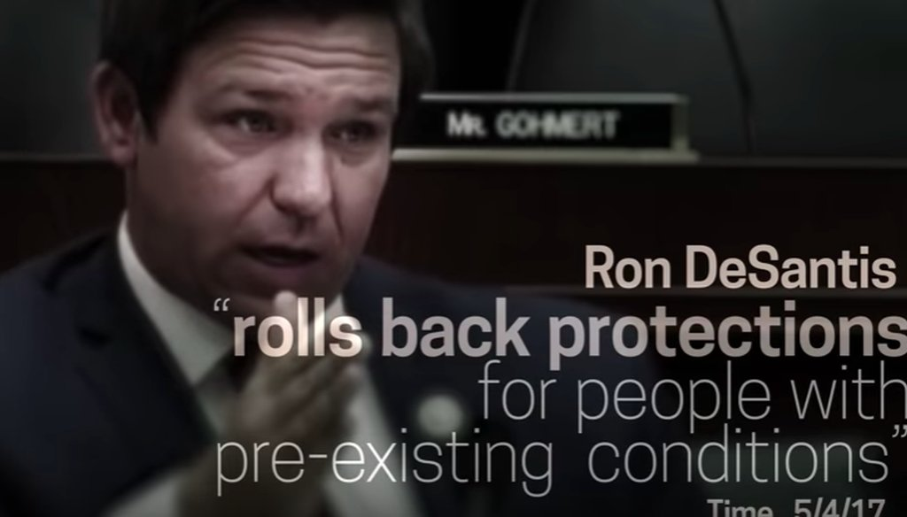 Democrats have attacked Ron DeSantis over his record in Congress related to the Affordable Care Act.