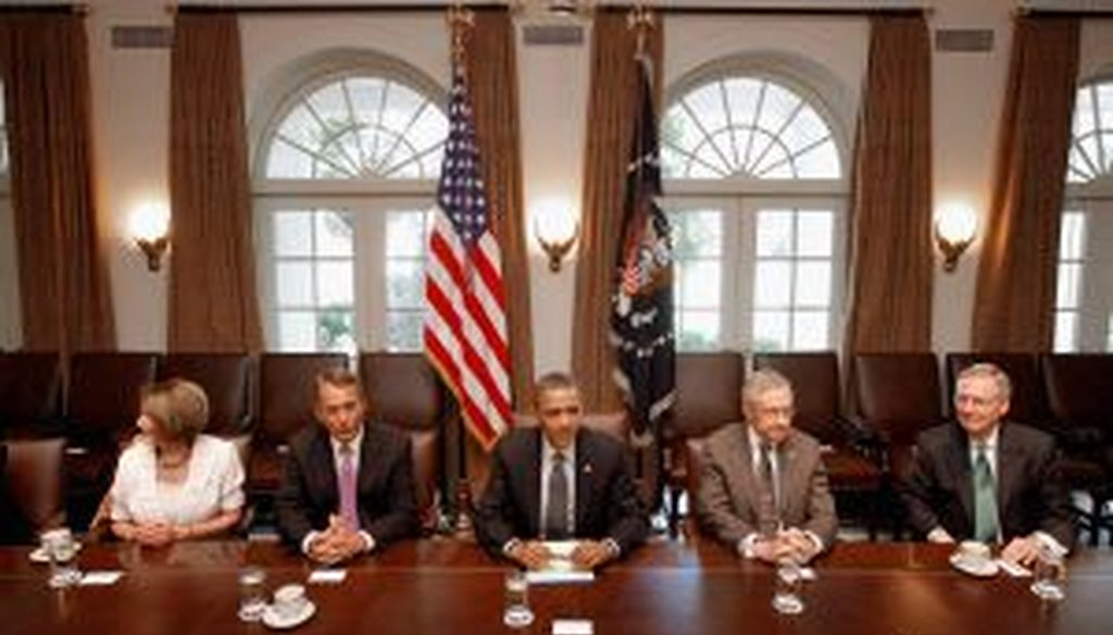 The debt ceiling negotiations have been held in the White House Cabinet Room.