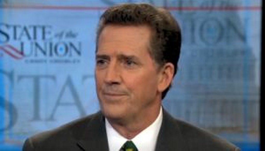 """Sen. Jim DeMint, R-S.C., appeared on CNN's """"State of the Union with Candy Crowley."""" We checked a claim he made about federal revenues."""
