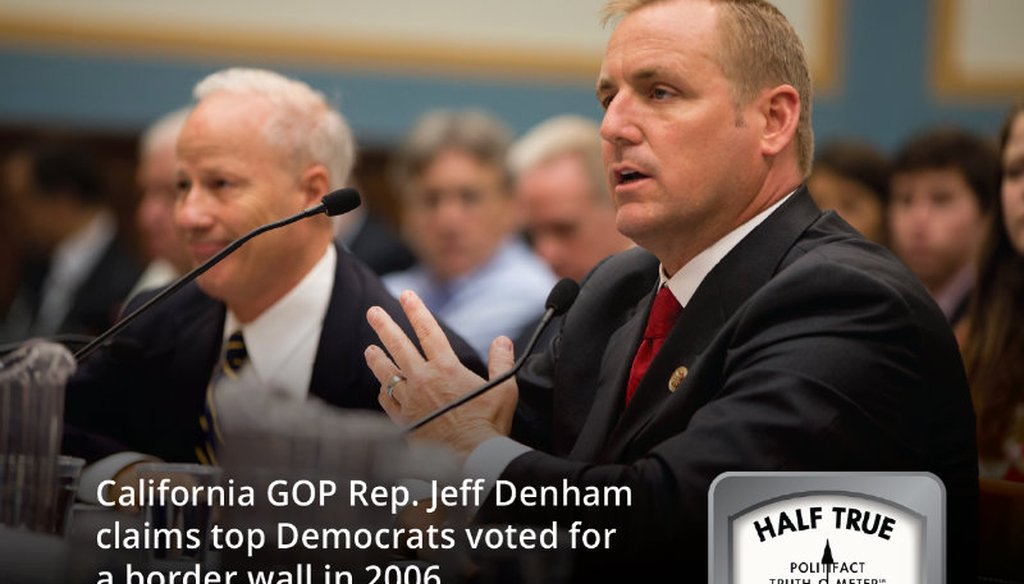Rep. Jeff Denham, R-Calif., right, testifies on Capitol Hill in Washington, Tuesday, July 23, 2013, before the House Judiciary subcommittee on Immigration and Border Security hearing. AP file photo.