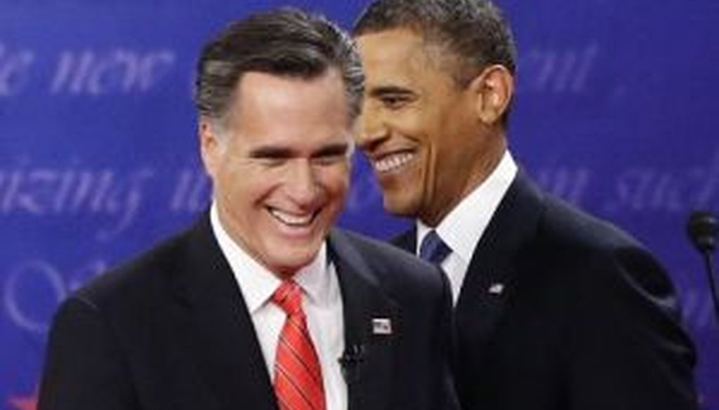 President Barack Obama and Mitt Romney met for the first presidential debate in Denver on Oct. 3, 2012. We fact-checked several claims from the debate.