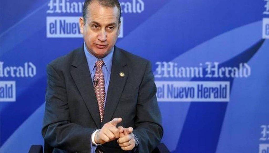 U.S. Rep. Mario Diaz-Balart represents part of Miami-Dade County.