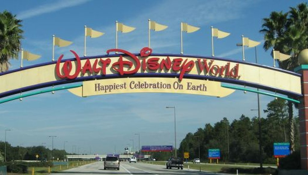 The entrance to Walt Disney World in central Florida. (Gerard McGovern via Flickr/Creative Commons)