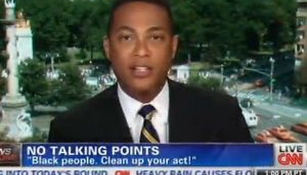 CNN anchor Don Lemon offered a commentary on race that went viral. We fact-checked a claim he made about out-of-wedlock births among African-Americans.