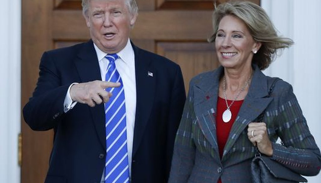 President Donald Trump has picked Betsy DeVos to be his education secretary. She has drawn criticism for her support of choice schools and has been accused of backing groups that are anti-gay. (USA Today)