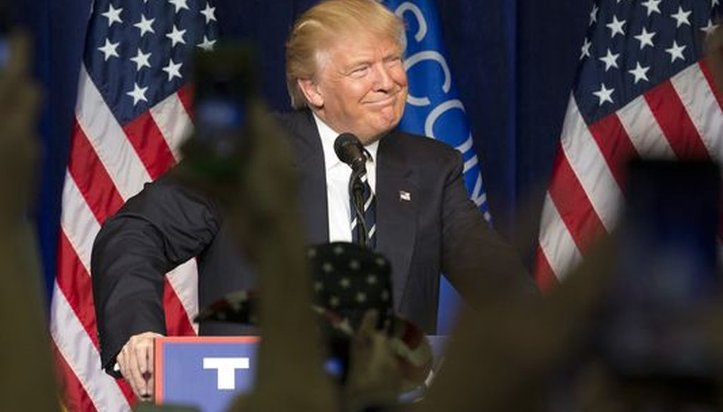 Donald Trump campaigned in Eau Claire, Wis., on Nov. 1, 2016, one week before election day. (Mark Hoffman/Milwaukee Journal Sentinel)