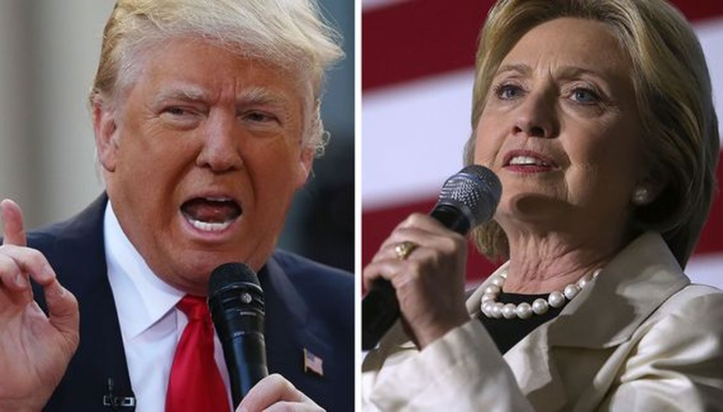 Some of the most-clicked fact checks in September 2016 were on claims that we've checked some time ago, including some on Donald Trump and Hillary Clinton. (Getty Images)