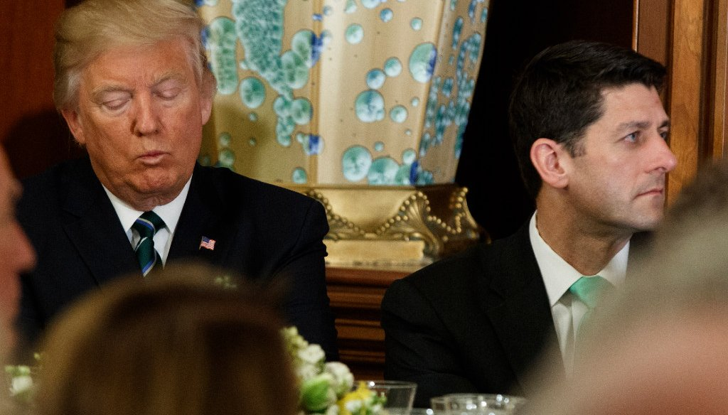 President Donald Trump (left) and House Speaker Paul Ryan have had their differences. (Associated Press)