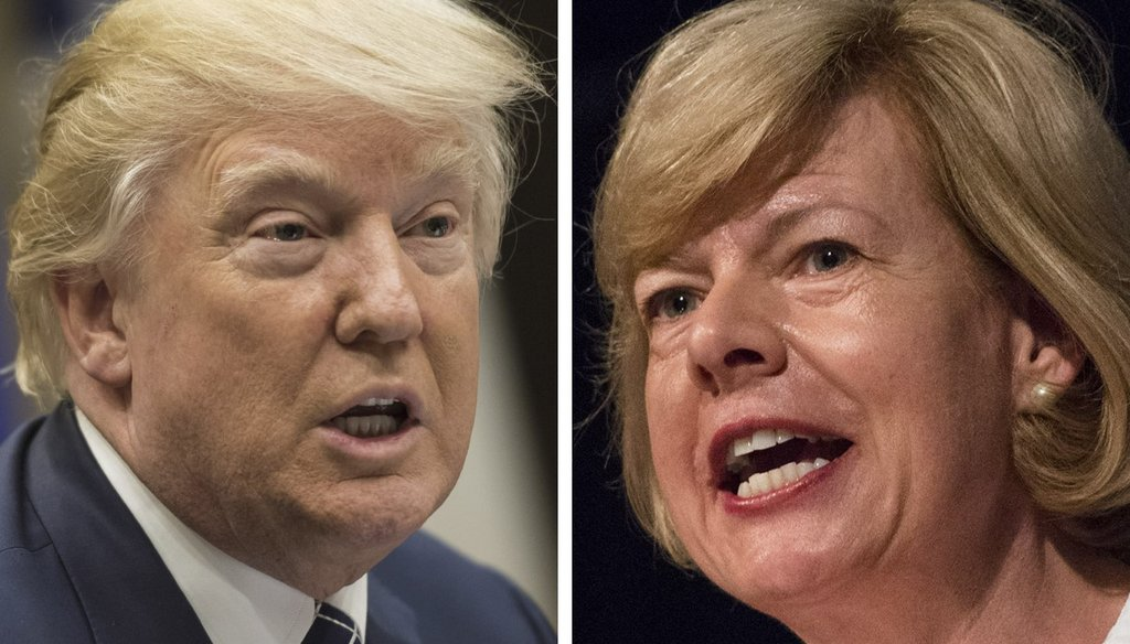 The Republican bill to replace Obamacare, supported by President Donald Trump, contains a provision that would be a financial boon to multimillionaire health care executives, says U.S. Sen. Tammy Baldwin, D-Wis.