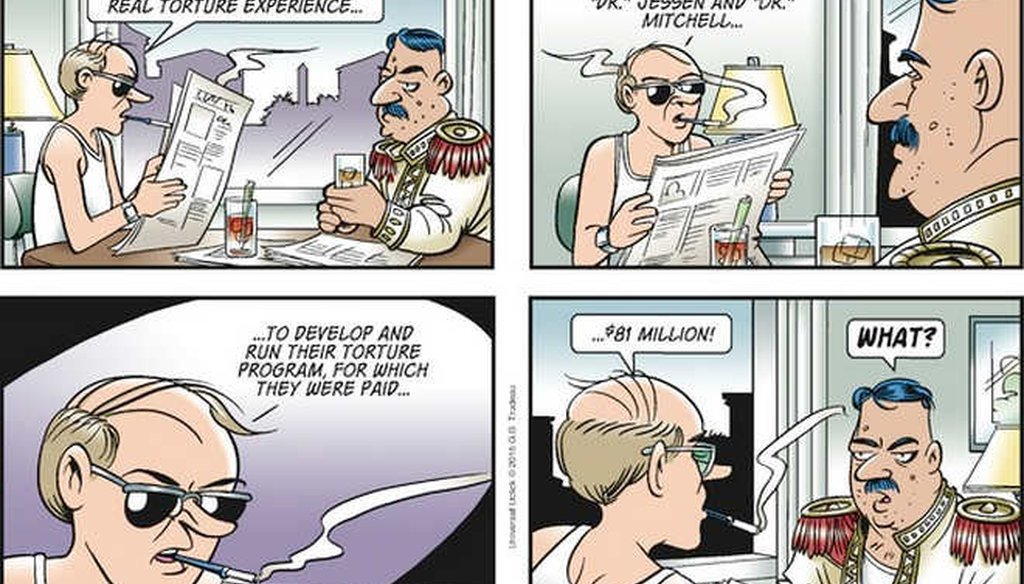 """The comic strip """"Doonesbury"""" noted that the CIA outsourced the design and implementation of its torture program."""