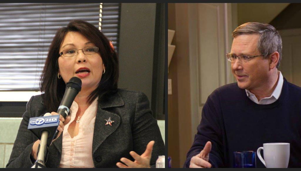 U.S. Rep Tammy Duckworth is challenging U.S. Sen. Mark Kirk of Illinois in a key race.