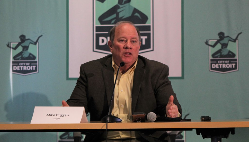 Detroit Mayor Mike Duggan speaks at a press conference about new COVID-19 measures on Monday, November 16, 2020. (Detroit Free Press, Omar Abdel-Baqui)
