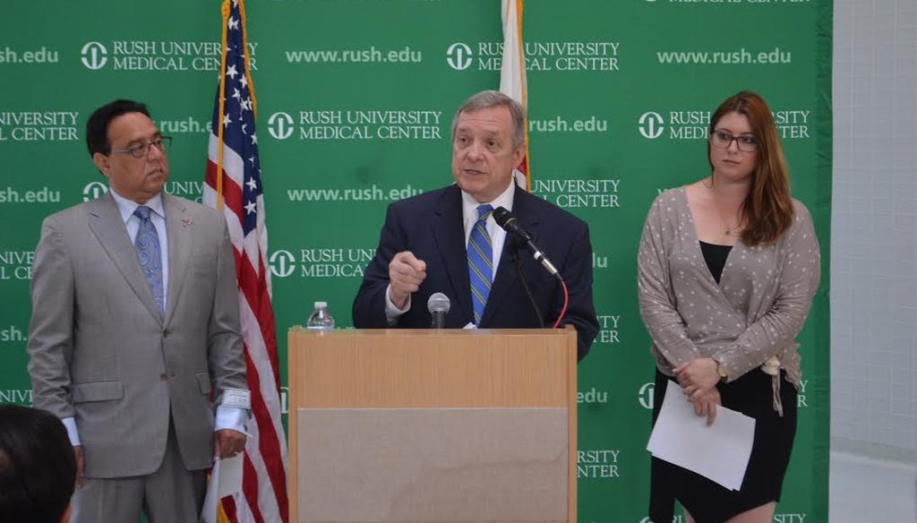 U.S. Sen. Dick Durbin, D-Ill., announces A-PROP Act at Rush University in Chicago