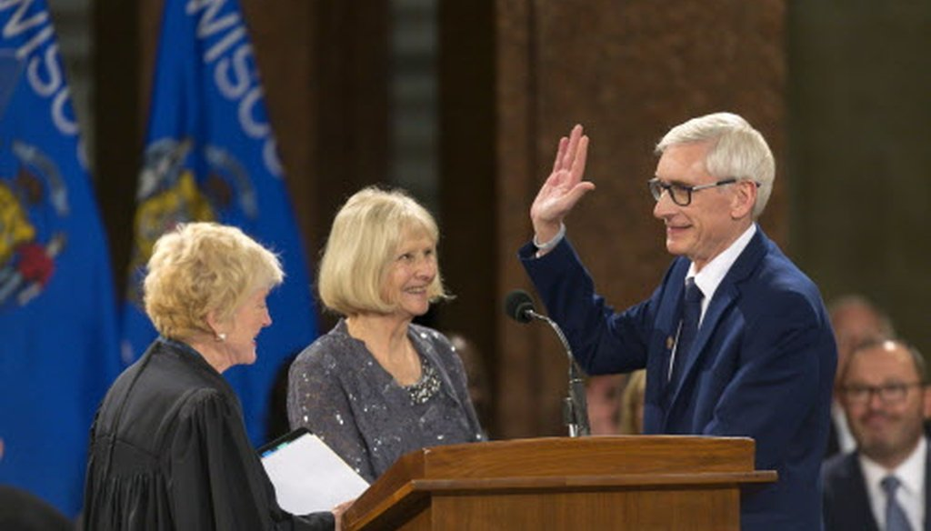PolitiFact Wisconsin takes a look at Gov. Tony Evers'  ratings on four pledges.