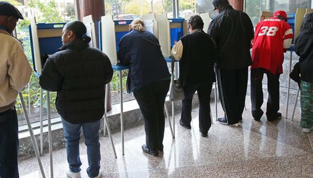 Early voting -- known as in-person absentee voting prior to election day -- is popular in Milwaukee. (Milwaukee Journal Sentinel photo by Michael Sears)