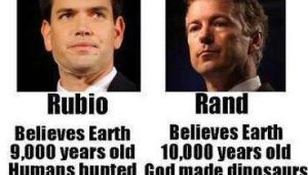 """A Facebook post from """"Being Liberal"""" attacked Sens. Marco Rubio and Rand Paul."""