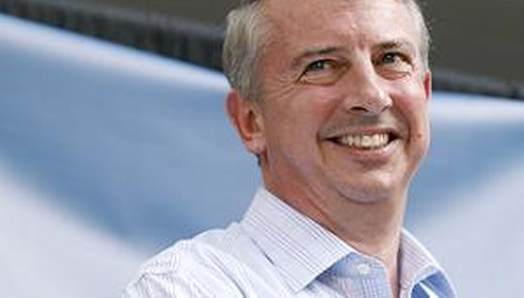 Ed Gillespie, Republican nominee for U.S. Senate, listens at a fundraiser on June 17.