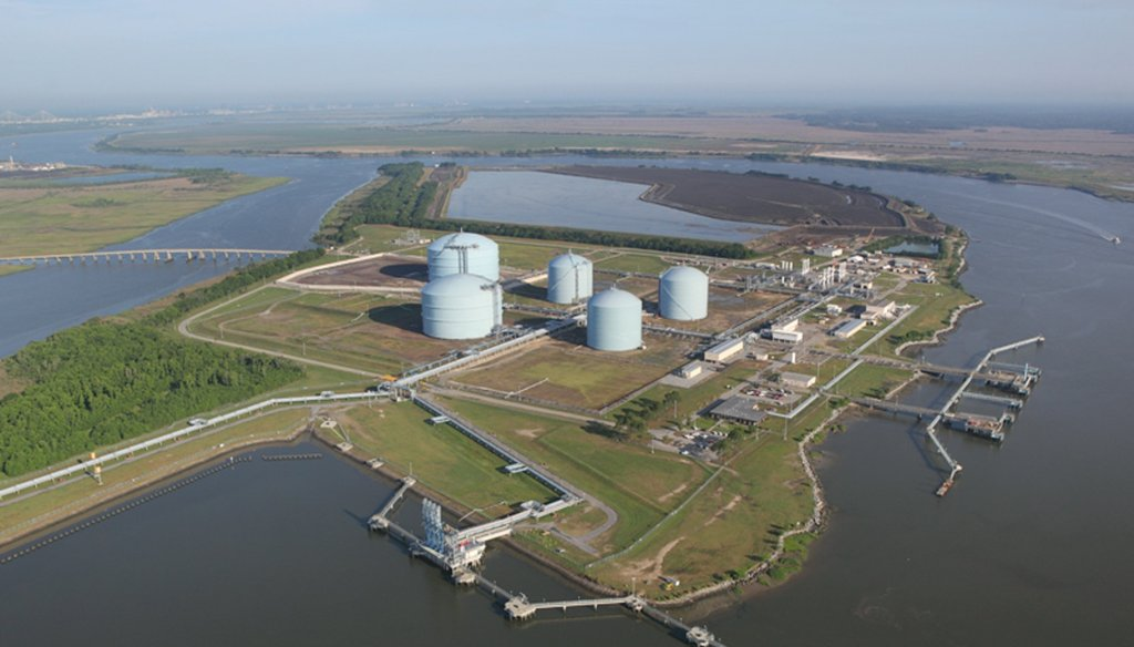 Elba Island natural gas terminal along the Savannah River. AJC file photo