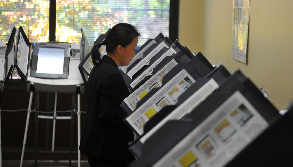 Voters will face several pages on their ballots – from U.S. Senator and governor down to local races – on Election Day this November. AJC photo by Brant Sanderlin/bsanderlin@ajc.com.