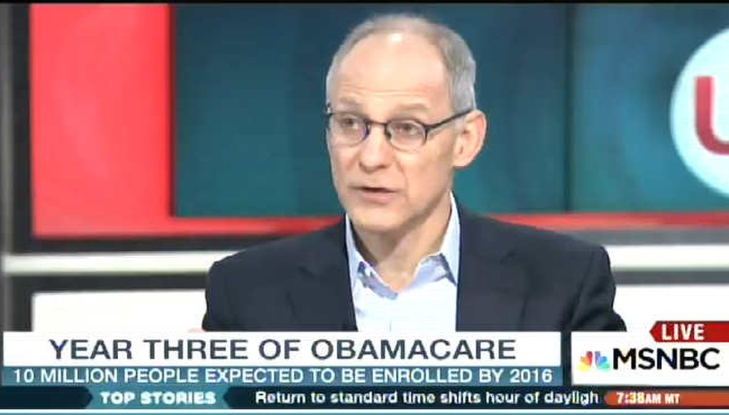 Zeke Emanuel argues that the ACA insurance co-ops have done no worse than the typical American start-up. (Screengrab)