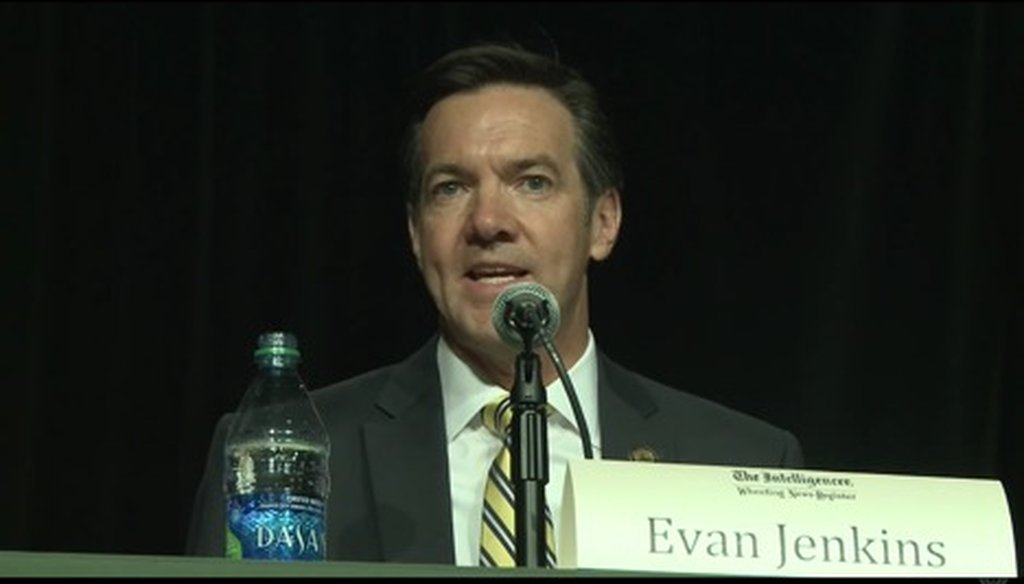 Rep. Evan Jenkins, R-W.Va., was one of several U.S. Senate primary candidates who appeared at a Republican debate on April 23, 2018.
