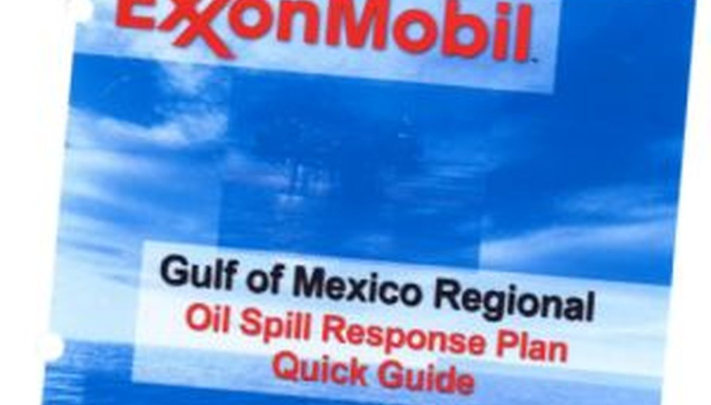 The Exxon plan: 40 pages for media response, only nine for removing the oil.