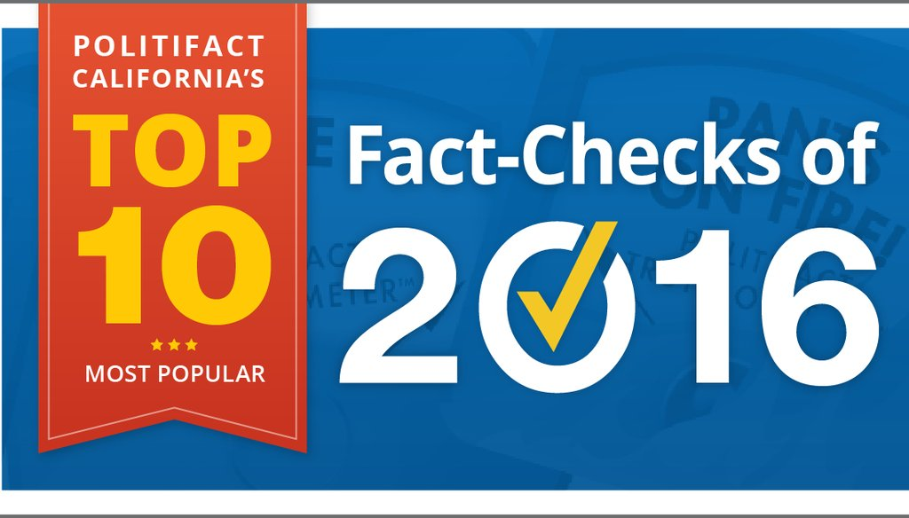 PolitiFact California Top 10 fact checks graphic