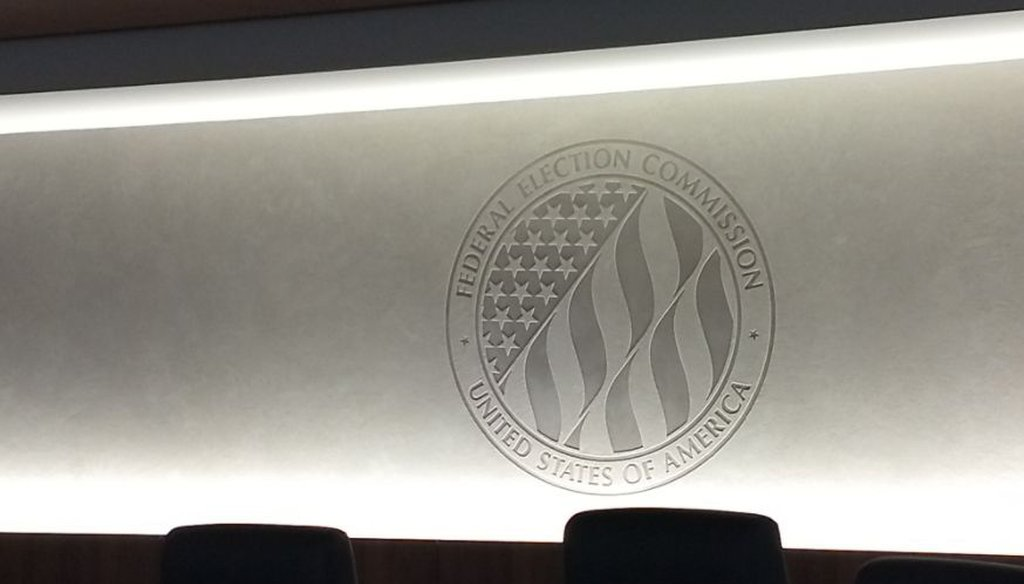 The room in Washington where the Federal Election Commission meets. (Louis Jacobson/PolitiFact)