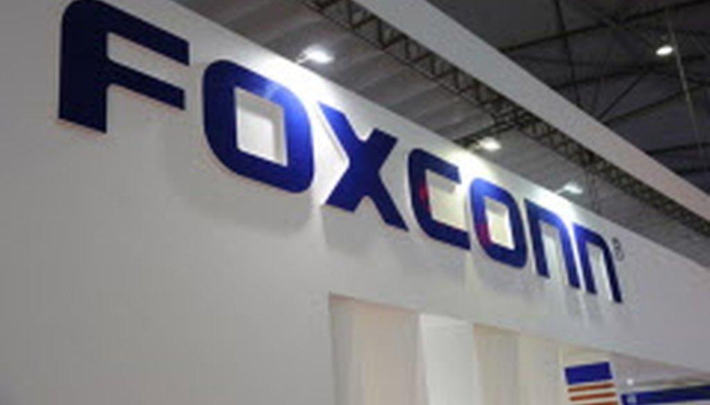 "Gubernatorial hopeful Matt Flynn says Foxconn ""is under investigation in mainland China for securities fraud, labor fraud, and environmental fraud."" (TNS)"