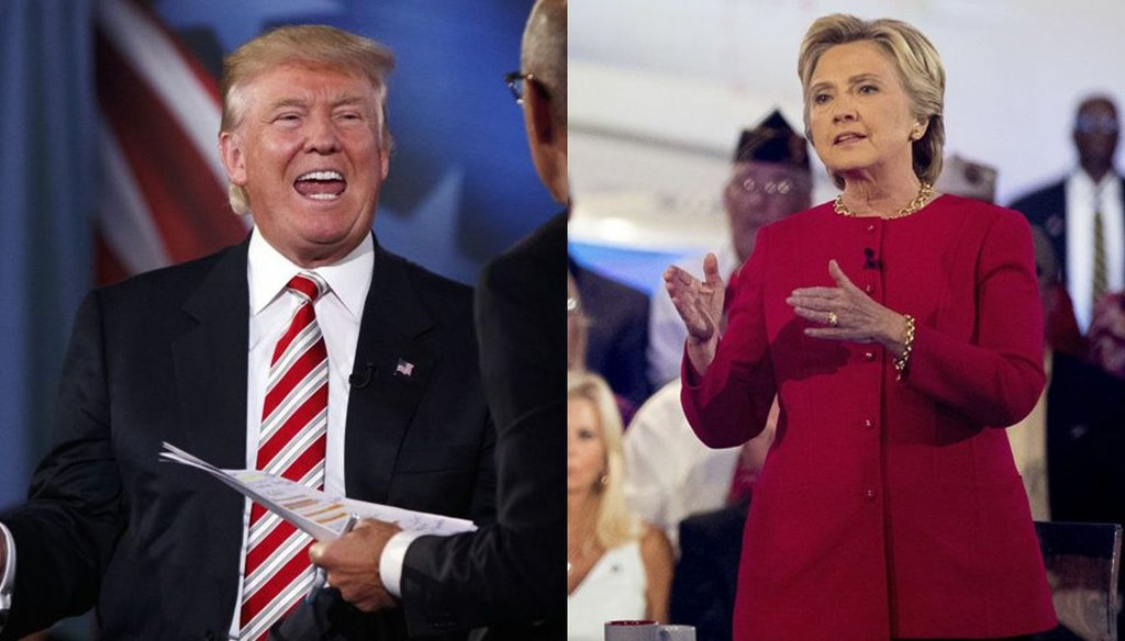 Hillary Clinton and Donald Trump answered questions about national security at the Commander-in-Chief forum. (New York Times)