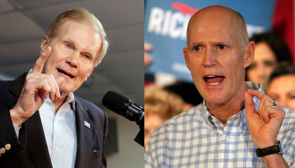 Florida Gov. Rick Scott and Sen. Bill Nelson. (AP)