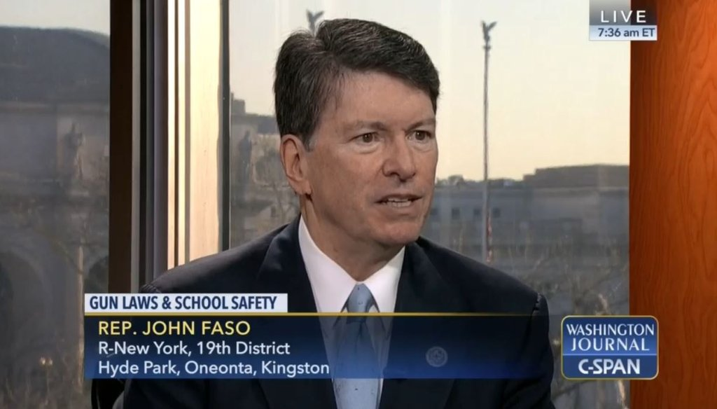 Rep. John Faso, R-Kinderhook, claimed that most gun crime is committed by illegal gun owners. (Courtesy: C-SPAN)