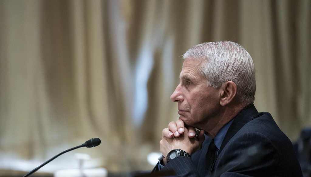 Dr. Anthony Fauci, director of the National Institute of Allergy and Infectious Diseases, listens during a Senate Appropriations Subcommittee, Wednesday, May 26, 2021, on Capitol Hill in Washington. (AP)