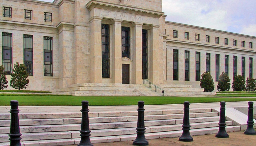 The Federal Reserve building in Washington, D.C. (Wikimedia commons)