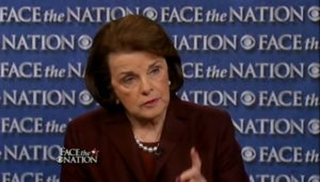 "Sen. Diane Feinstein appeared to CBS' ""Face the Nation"" and promoted her bill to revive an assault-weapons ban."