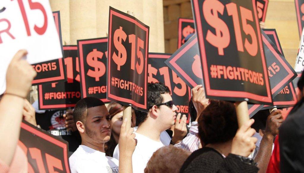 Demonstrators outside Buffalo City Hall in June 2015. (Derek Gee/Buffalo News)