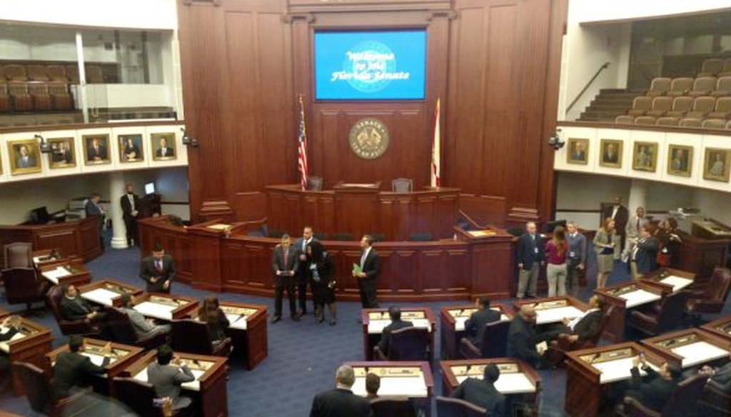 The Florida Senate chamber in Tallahassee. (Louis Jacobson/Tampa Bay Times)
