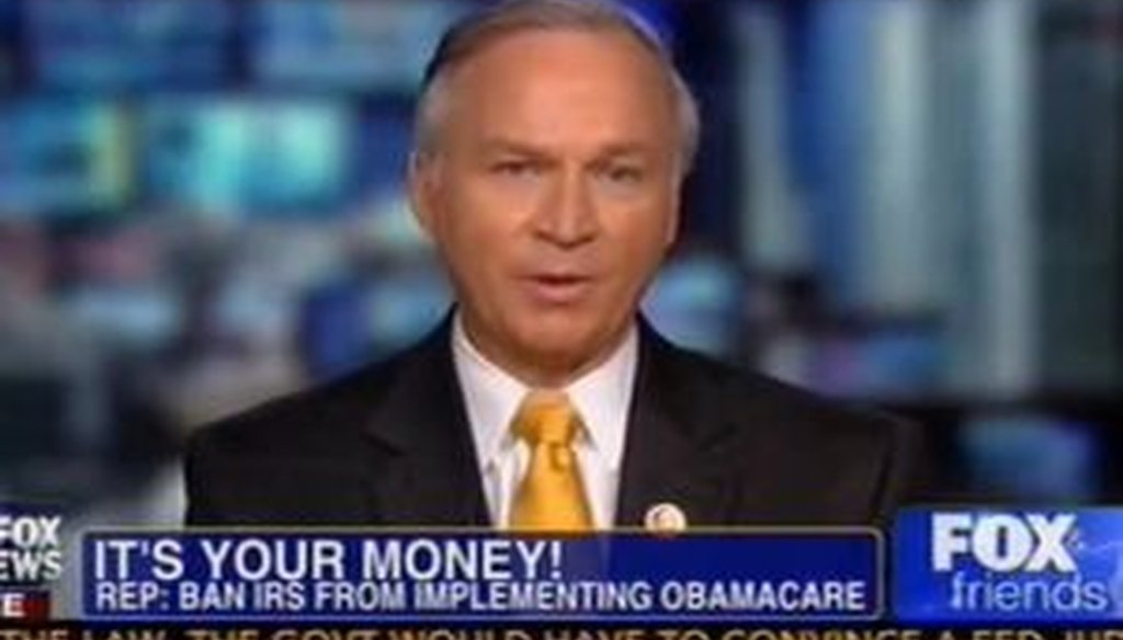 Rep. Randy Forbes, R-Va., recently appeared on Fox News to discuss the Internal Revenue Service. We checked one of his claims.
