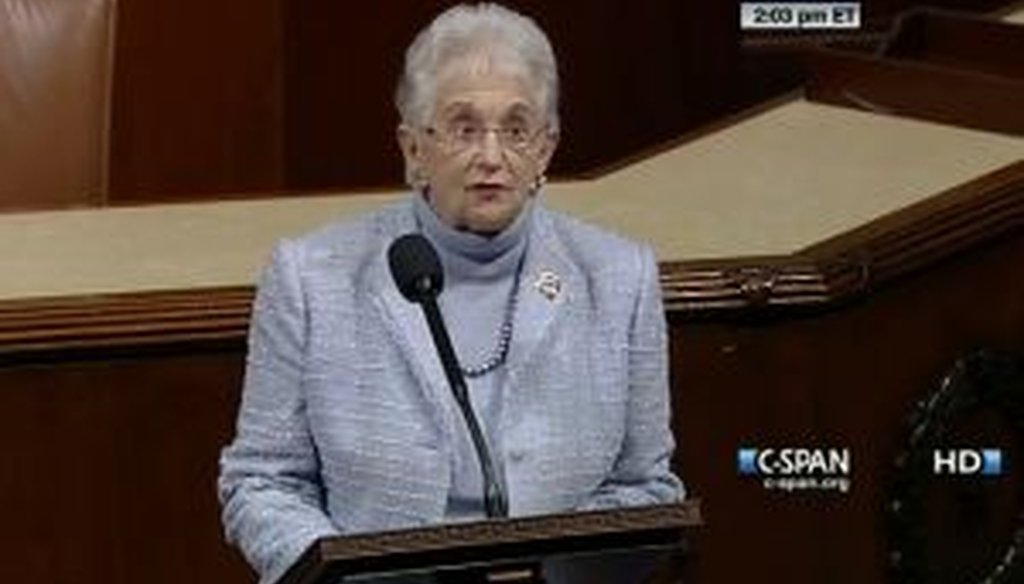 Rep. Virginia Foxx, R-N.C., said during a floor speech that there are 3.6 million jobs sitting vacant, partly because of a mismatch in job skills. We checked to see if she was correct.