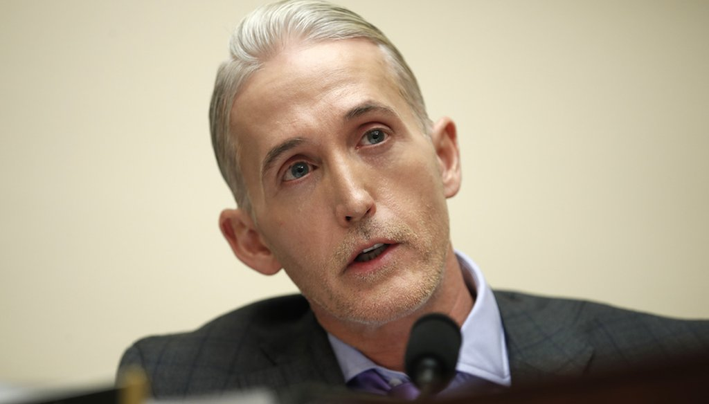 Rep. Trey Gowdy, R-S.C., speaks during a House Judiciary hearing on Capitol Hill in Washington on Dec. 7, 2017.