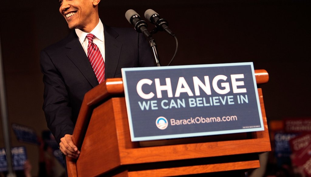Presidential candidate Sen. Barack Obama (D-IL) takes the lectern at his victory rally at the Columbia Metropolitan Convention Center January 26, 2008 in Columbia, South Carolina. (Photo by Chris Hondros/Getty Images)