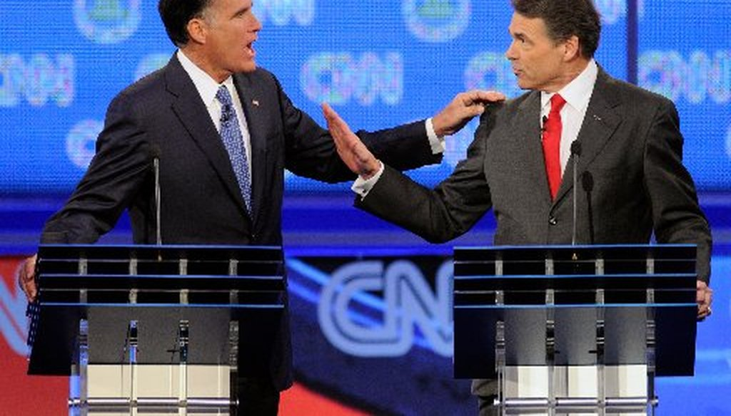 Mitt Romney and Rick Perry went at it over immigration.