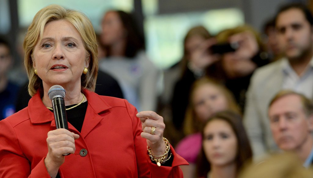 Hillary Clinton discusses proposals to address gun violence Oct. 5, 2015 in Manchester, New Hampshire. (Getty Images)