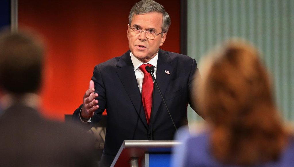 Jeb Bush at the Republican presidential debate in South Carolina. (Getty)