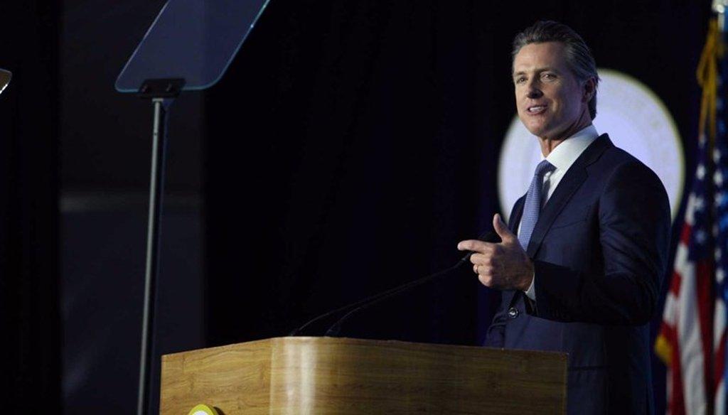 Democrat Gavin Newsom was sworn-in as California's 40th governor on Jan. 7, 2019. Andrew Nixon / Capital Public Radio