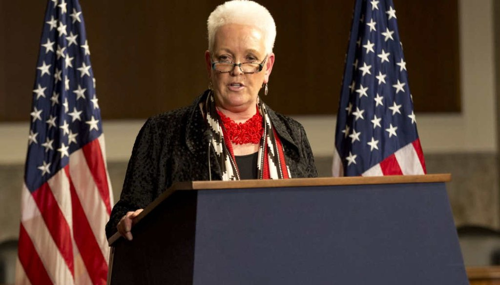 U.S. Agency for International Development administrator Gayle Smith delivers her first major policy speech on March 9, 2016 at the Dirksen Senate Office Building on Capitol Hill. (USAID)