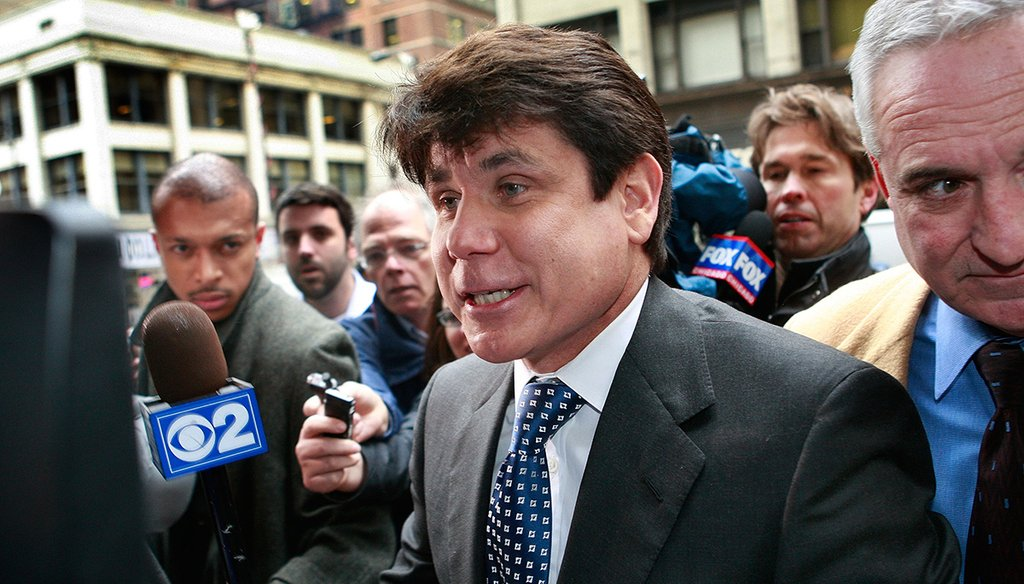 Former Illinois Governor Rod Blagojevich arrives at the Dirksen Federal building for a hearing April 21, 2009 in Chicago, Illinois. (Scott Olson/Getty Images)