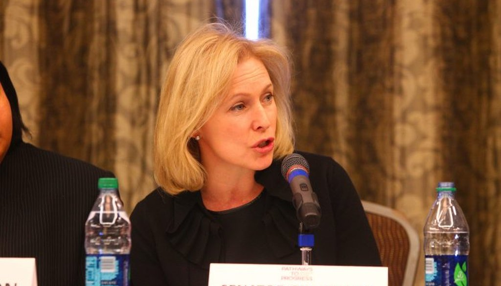 U.S. Sen. Kirsten Gillibrand is campaigning for president.